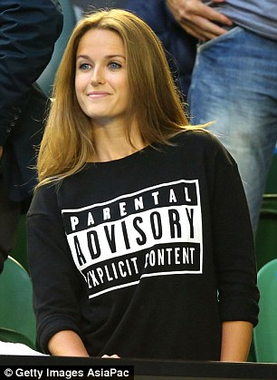 During the Australian Open final she poked fun at her outburst during Andy's semi-final with Czech Tomas Berdych by wearing a top with the slogan: 'Parental Advisory: Explicit Content'