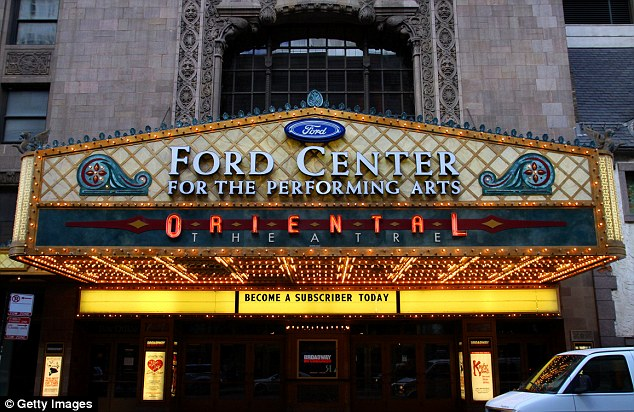 It will play at Chicago's Oriental Theatre (pictured) starting June 7 until July 3 with an eye to Broadway in the fall