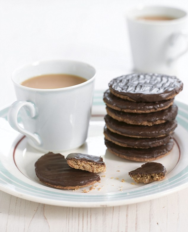 Chocolate digestives are especially good when home-made. You can use dark or milk chocolate – but always use 70 per cent cocoa solids