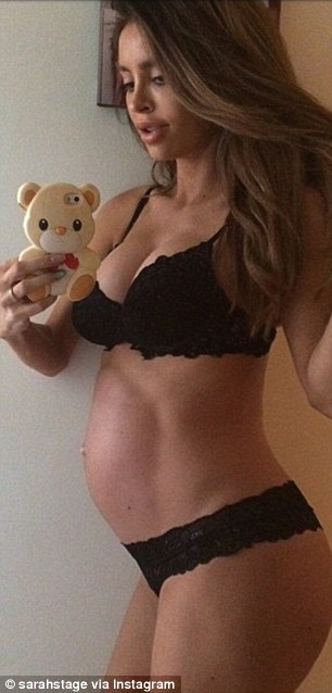 Pregnant and buff? Model Sarah Stage maintained a six-pack while eight months pregnant