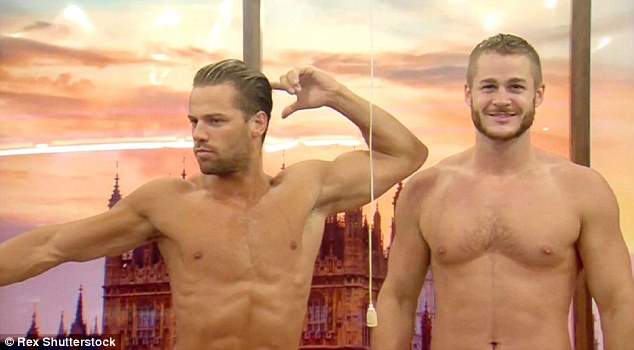 He's done this before: James showed off his moves as Austin stood still flexing his muscles