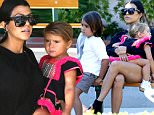 Single mom Kourtney Kardashian lonely at the park in Malibu on saturday with Mason and baby August 29, 2015 /X17online.com