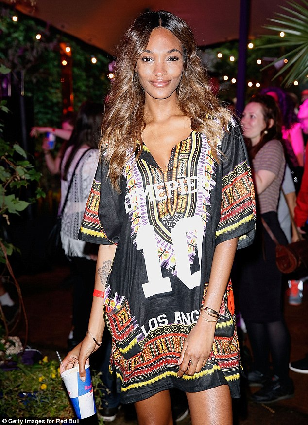 Looking lovely: The 25-year-old looked stunning as she partied at the Red Bull Carnival party in Notting Hill