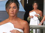 Jennifer Aniston steps out in a towel while filming Mother's Day in Georgia.\n\nPictured: jennifer aniston\nRef: SPL1113652  310815  \nPicture by: Ryan Turgeon / Splash News\n\nSplash News and Pictures\nLos Angeles: 310-821-2666\nNew York: 212-619-2666\nLondon: 870-934-2666\nphotodesk@splashnews.com\n