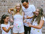 Sometimes a Saturday is best spent painting t-shirts and taking an awesome family photo?? Happy Monday everybody! #ThatAintNoBurritoinMyBelly Thank you to our friend @softspiritstrong for coming over and snapping this sweet pic ??