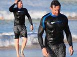 **EXCLUSIVE**..Hugh Jackman spotted having a morning dip in Bondi, Sydney.