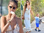 Alessandra Ambrosio takes a bite out of a popsicle while out with her husband and son in malibu\n\nPictured: Alessandra Ambrosio\nRef: SPL1112653  300815  \nPicture by: Fern / Splash News\n\nSplash News and Pictures\nLos Angeles: 310-821-2666\nNew York: 212-619-2666\nLondon: 870-934-2666\nphotodesk@splashnews.com\n