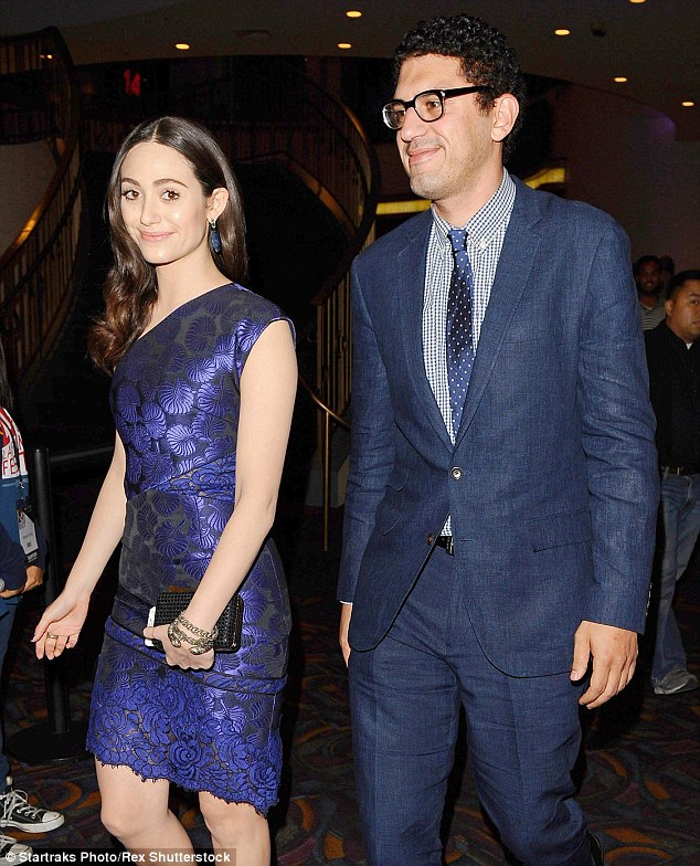 Engaged: Emmy Rossum is set to tie the knot with director Sam Esmail, according to her rep