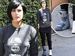 Mandatory Credit: Photo by Startraks Photo/REX Shutterstock (5016778a)\n Rumer Willis\n Rumer Willis out and about, Los Angeles, America - 31 Aug 2015\n Rumer Willis staying stylish despite her boot\n