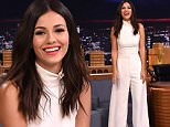 """NEW YORK, NY - AUGUST 31:  Victoria Justice Visits """"The Tonight Show Starring Jimmy Fallon"""" at Rockefeller Center on August 31, 2015 in New York City.  (Photo by Theo Wargo/NBC/Getty Images for """"The Tonight Show Starring Jimmy Fallon"""")"""