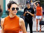 Mandatory Credit: Photo by Buzz Foto/REX Shutterstock (5016759h)\n Kendall Jenner, Hailey Baldwin\n Kendall Jenner and Hailey Baldwin out and about, New York, America - 31 Aug 2015\n \n