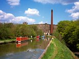 ANDY53 Cheshire Bollington narrowboats on Macclesfield Canal at Clarence Mill