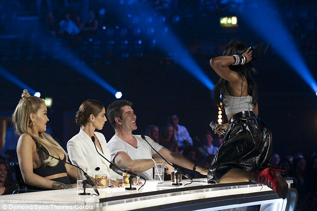 Definitely memorable: Simon Cowell might just meet his most unforgettable contestant yet on Saturday night's episode of the singing competition as the music mogul is treated to an erotic dance by wild contestant Bupsi