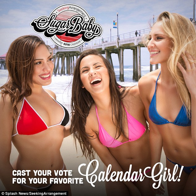Bikini babes: Seeking Arrangements, a dating site that pairs young women with older sugar daddies, is hosting its first ever Sugar Baby of the Year calendar contest