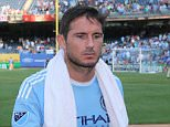 29/08/15 New York Yankee Stadium MLS New York City FC  v columbus Crew FC A disappointed Frank Lampard and NYC manager Jason Kreis leave the field after 2-1 defeat