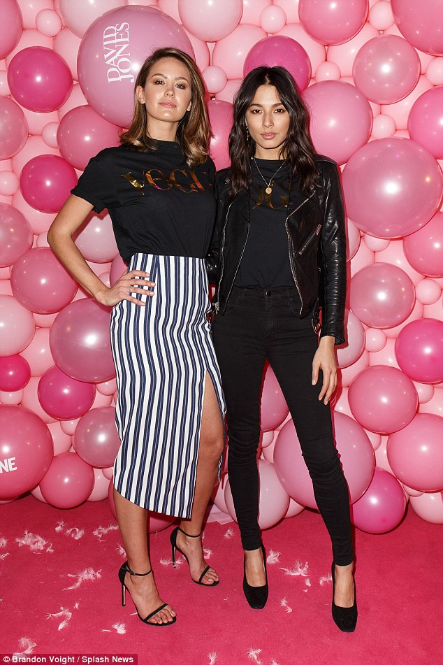 Putting their best foot forward! Alli was joined at the event by  Jesinta Campbell and Jessica Gomes