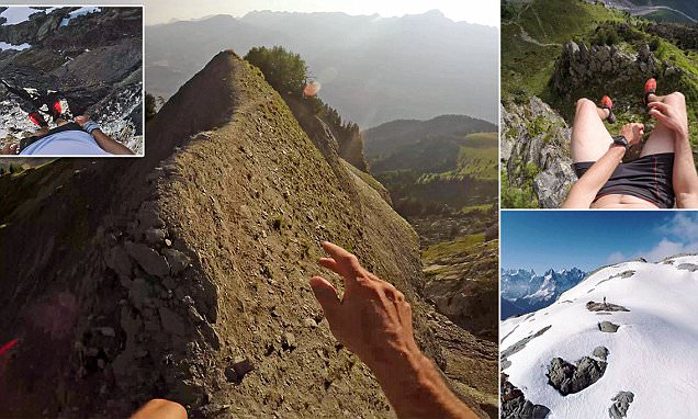 Sebastien Montaz-Rosset'svideo of his evening jogs along Alpine mountains