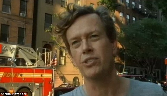 Actor: Dylan Baker, pictured,tried to rescue his neighbor Vivien Eng, before escaping a high-rise apartment fire in Manhattan