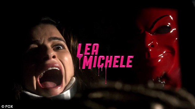 New show: Lea portrays pledge Hester 'Neckbrace' who has scoliosis that requires a brace and is seen audibly terrified after she was confronted by someone wearing a red devil mask