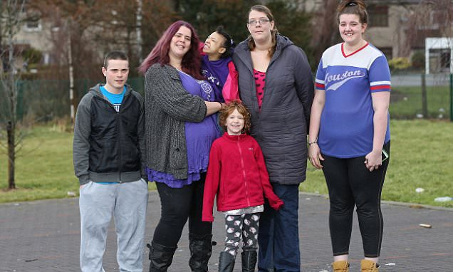 Marfan syndrome sufferers mother and three daughters have combined height of 30ft