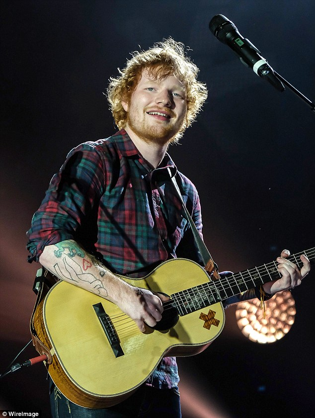 'Totes emosh': The 37-year-old star pretended she was devastated to have broken up with singer/songwriter Ed in the wake of rumours the pair had briefly dated