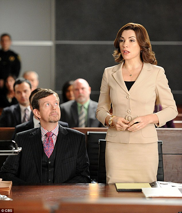 Appearance: Baker is seen in an episode of The Good Wife as character Colin Sweeney, next to protagonist Alicia Florrick, played by JuliannaMargulies