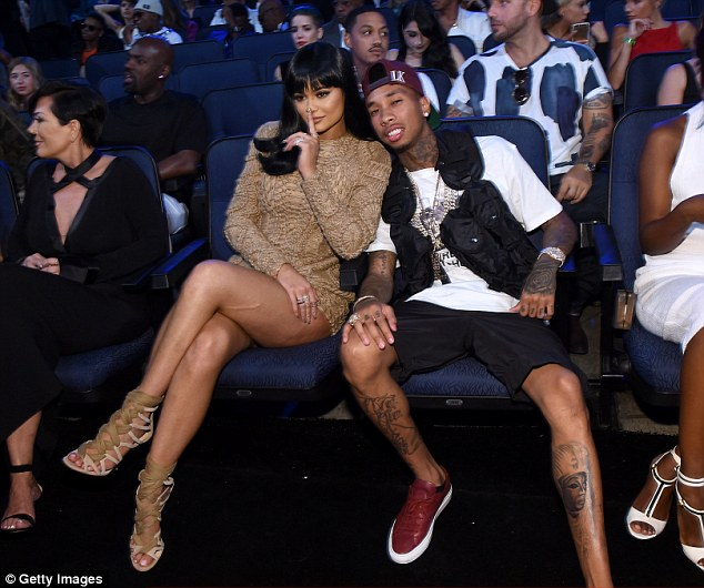 Awkward! Chyna's ex Tyga was also in attendance with his newer, younger girlfriend Kylie Jenner