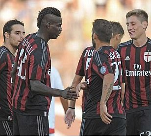 Mario Balotelli scores sumptuous goal three minutes into his second debut for AC Milan