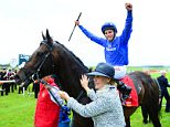 "File photo dated 27-06-2015 of William Buick celebrates winning the 150th Dubai Duty Free Irish Derby on Jack Hobbs during day two of the Irish Derby Festival at the Curragh Racecourse, Co. Kildare, Ireland. PRESS ASSOCIATION Photo. Issue date: Friday September 4, 2015. Jockey William Buick feels ""very privileged"" to be Jack Hobbs' companion as the Classic-winning colt takes the final step towards the Prix de l'Arc de Triomphe at Kempton on Saturday. See PA story RACING September. Photo credit should read Pat Healy/PA Wire."