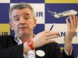 Ryanair chief executive Michael O'Leary meets the media to present new routes operating by Ryanair from Marseille, in Vitrolles , southern France.  A lawyer for a group of Ryanairís French pilots says Wednesday Oct. 2, 2013,  a court on  has fined  the Irish airline 200,000 euros ($270,440) and ordered it to pay almost 8 million euros ($10.8 million) in damages and interest for breaking French labor law.     FILE - In this Jan.16, 2013 file photo, (AP Photo/Claude Paris, File)