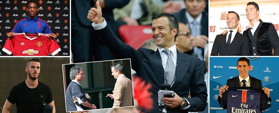 Jorge Mendes is agent for Jose Mourinho, Cristiano Ronaldo, Angel di Maria, Pepe, Radamel