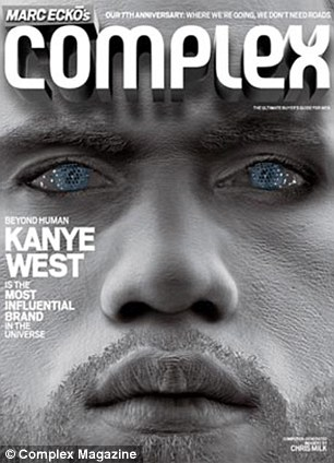 Prescient: The April/May 2009 issue of Complex had a dual cover that featured both Kim and Kanye on opposite sides