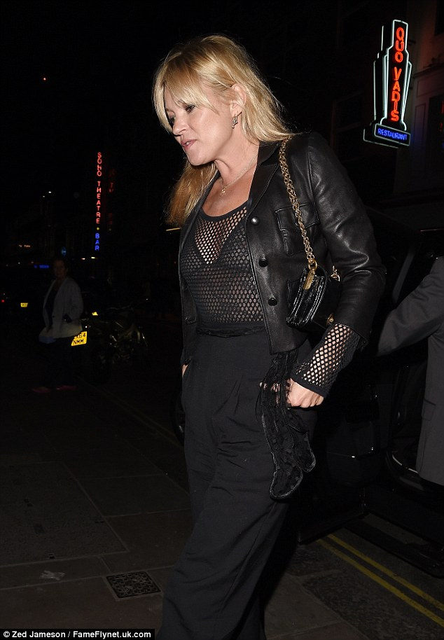 Flying solo: The blonde seemed to cut a solo silhouette, amid ongoing speculation about her marriage to Jamie Hince