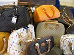 A huge haul of fake bags, shoes and purses worth £400,000 has been seized in a blitz on London counterfeiters. The haul was of the biggest in the capital and came as police, trading standards officers and trademark experts joined forces to target markets, car-boot sales and high street shops. Counterfeiting is one of the fast-growing crimes in the capital and is believed to a fund a variety of more serious offences, including drug and arms dealing - The raid on the east London firm Alami International Ltd was organised after trading standards officers became suspicious about a shop called Amici in Pinner High Street. He bought a bag that bore trademarks that could be mistaken for ones registered by Louis Vuitton.