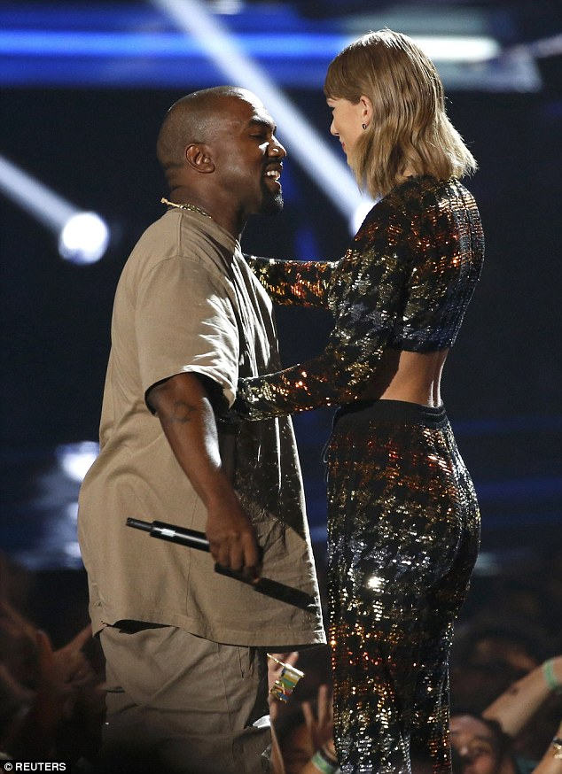Making amends:Taylor recently revealed to Vanity Fair that it was Kanye's 'Big Brother' Jay-Z who insisted that the two superstars start afresh