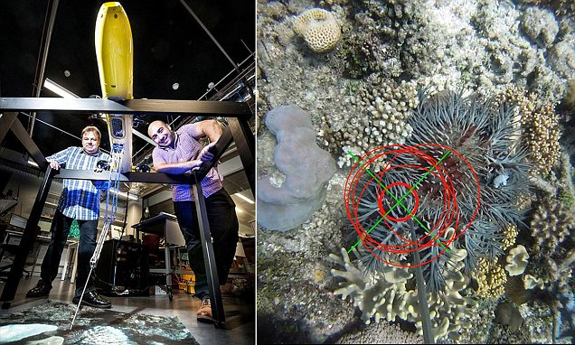 COTSbot robot seeks out coral destroying crown-of-thorn star fish