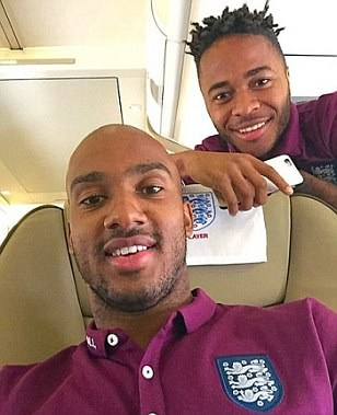 Raheem Sterling appears to poke fun at abuse by posing for 'snakes on a plane' snap with