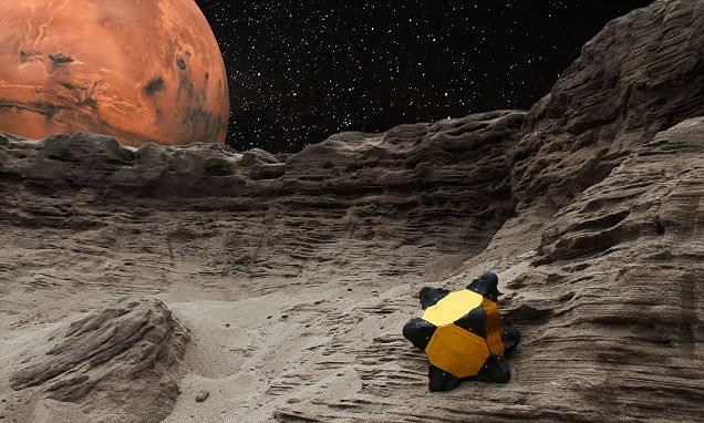 Nasa reveals bizarre 'hedgehog' robot that can roll and fall around alien planets