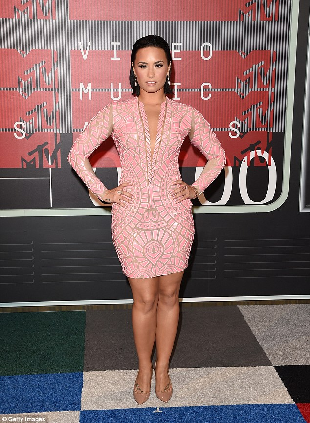 Putting on a show: Demi performed at this year's MTV Video Music Awards alongside Iggy Azalea
