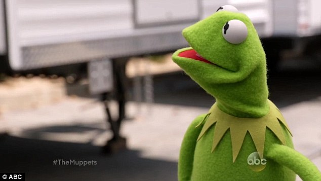 The exes revenge: Kermit can't quite believe what he is seeing