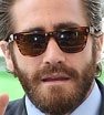 Main man: Jake Gyllenhaal made an grand arrival ahead of the press conference for his new film Everest during the 72nd edition of the Venice Film Festival on Wednesday afternoon.