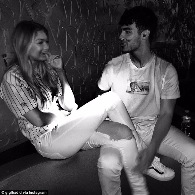 New love: Gigi is now dating Joe Jonas, 26, who happens to be the ex-boyfriend of Taylor