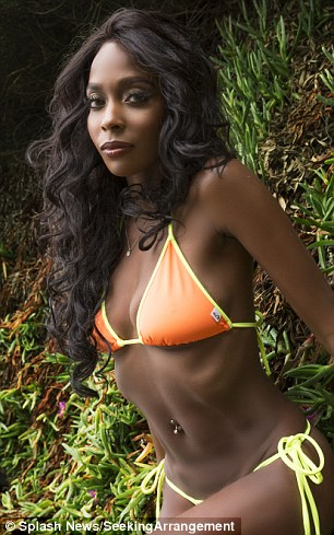 Personal strengths: Serena (pictured), 23, described herself as 'sugar and spice' on the contest's page, while 25-year-old Melissa, noted that she is 'beautifully exotic'