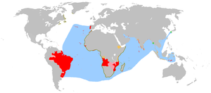 Anachronous map of the Portuguese Empire (1415-1999)