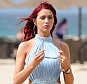 **** NOTE TO PICTURE DESK - £250 MIN USAGE FEE APPLIES FOR ONLINE SET - £200 PER PIC USAGE IN PRINT **** PIC FROM MERCURY PRESS (PICTURED - SEXY AMY CHILDS FLAUNTS HER BODY IN CAPE VERDE) Amy Childs poured further mystery on rumours she might be pregnant as she seemed to sip bubbly with a pal larking around on holiday. The 25-year-old Barking babe did have her midriff covered however in these latest shots taken in the sun of Cape Verde. Amy has recently celebrated a year with her humble builder beau Bradley Wright, 24, and are believed to be getting serious. And speaking to OK! Magazine a few days ago Amy said revealed she and her fella had their eyes on a castle in Hertfordshire should they tie the knot. If these pictures are anything to go Bradley should hurry up and put a ring on it as Amy looks flawless in this playful powder blue outfit. With skyscraper wedges and showing off her endless legs the Essex beauty looked sexy as she larked about with a pal at the Melia Dunas Hotel and