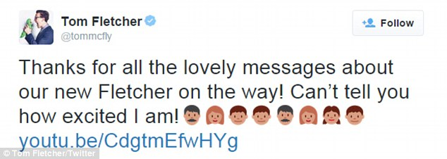 Over the moon: The down-to-earth star took to Twitter to thank fans for their support