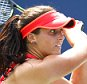 Laura Robson of Great Britain in action at the US Open, Flushing, New York, 2015