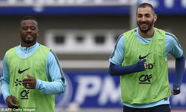 Arsenal were rumoured to be interested in Karim Benzema (right) but they entered the bidding for Martial