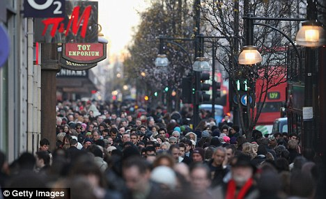 'Staggering' rise: The world's urban population is likely to increase from a 2007 figure of 3.3billion to 6.4billion in 2050