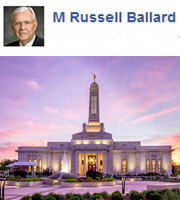 """""""As I attended the dedication of the Indianapolis Indiana Temple this weekend, I know that I was walking on sacred, holy ground."""" —M. Russell Ballard"""
